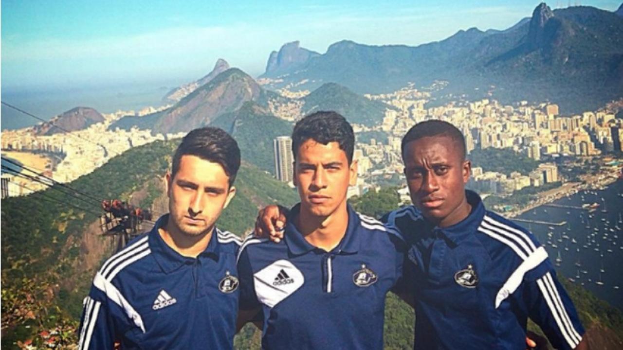 Akron University mens soccer in Brazil