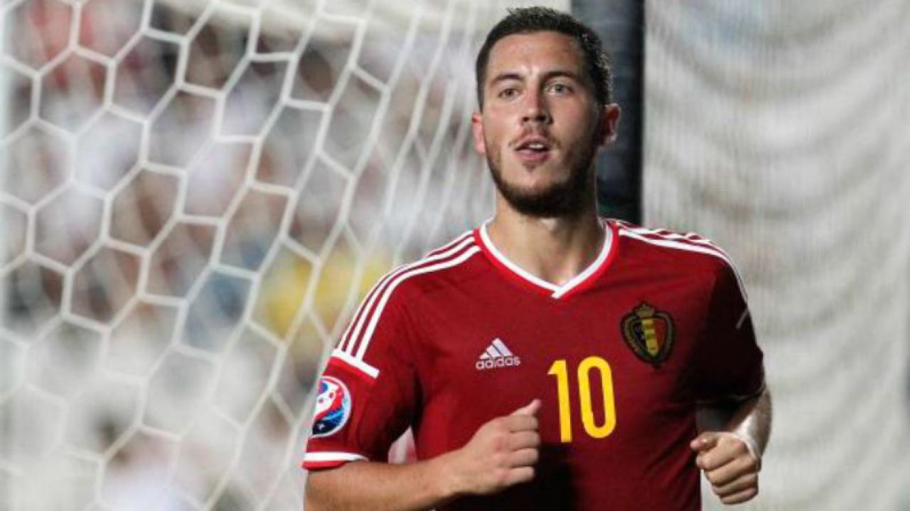 Eden Hazard scored a great goal in training