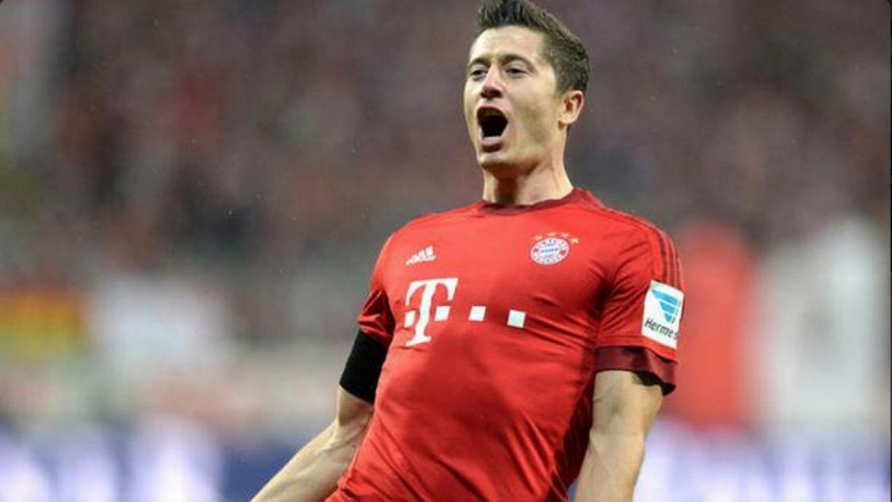 Greatest single game performance? Robert Lewandowski scoring one of his many goals in the young Bundesliga season.