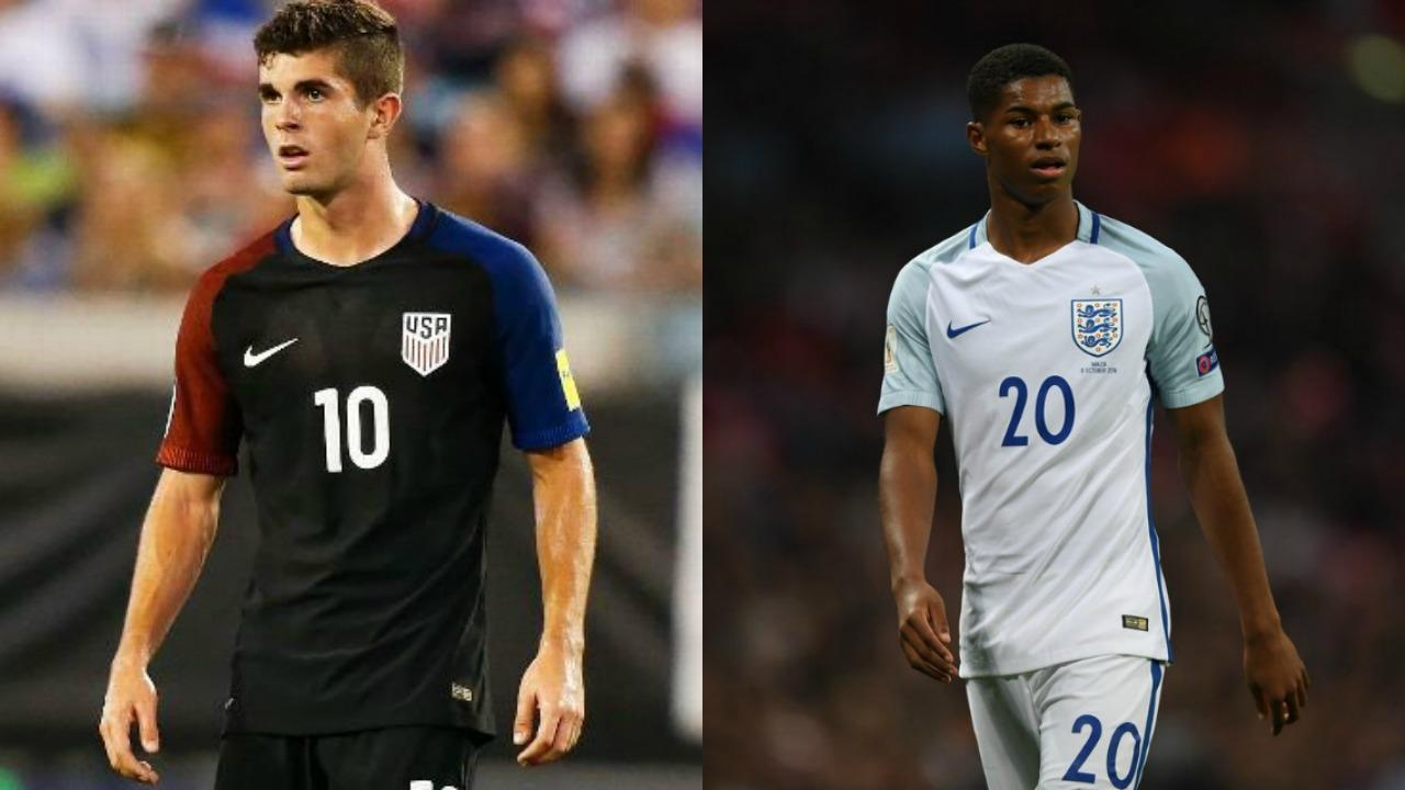 Christian Pulisic and Marcus Rashford