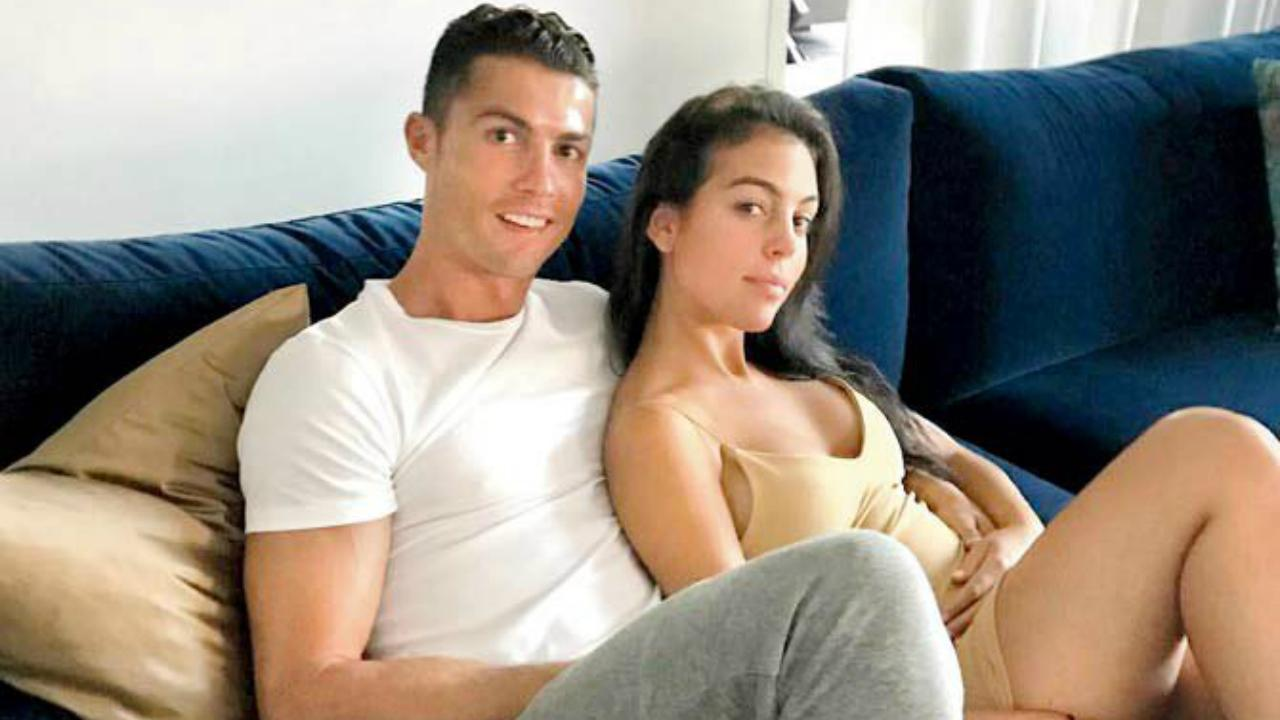 Cristiano Ronaldo with pregnant girlfriend Georgina Rodriguez