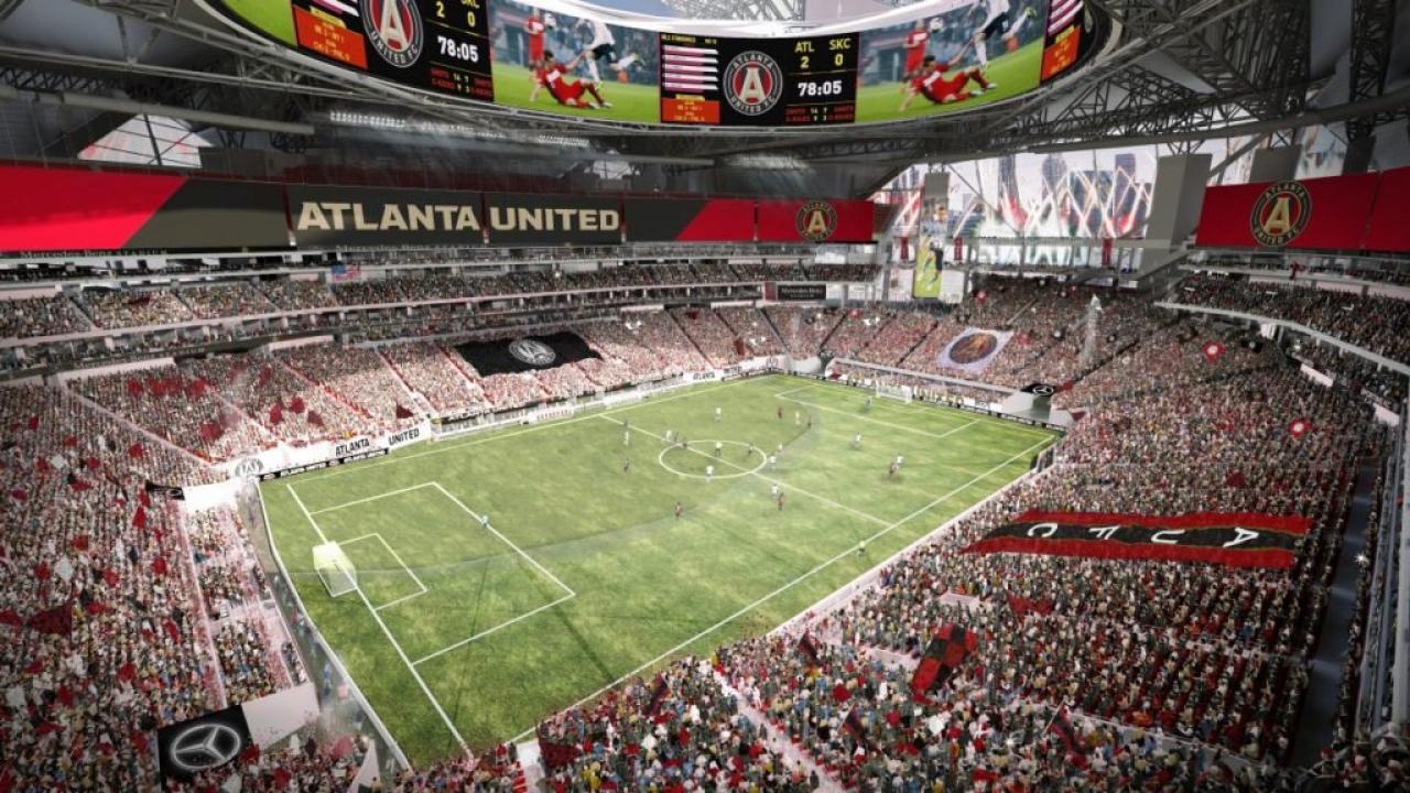 Atlanta United's Mercedes-Benz Stadium in the MLS