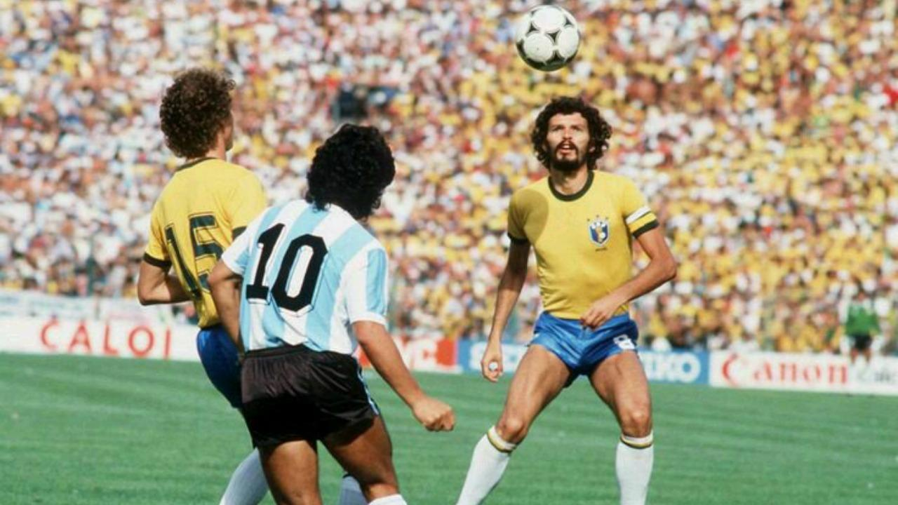 Brazil's Socrates at the 1982 World Cup