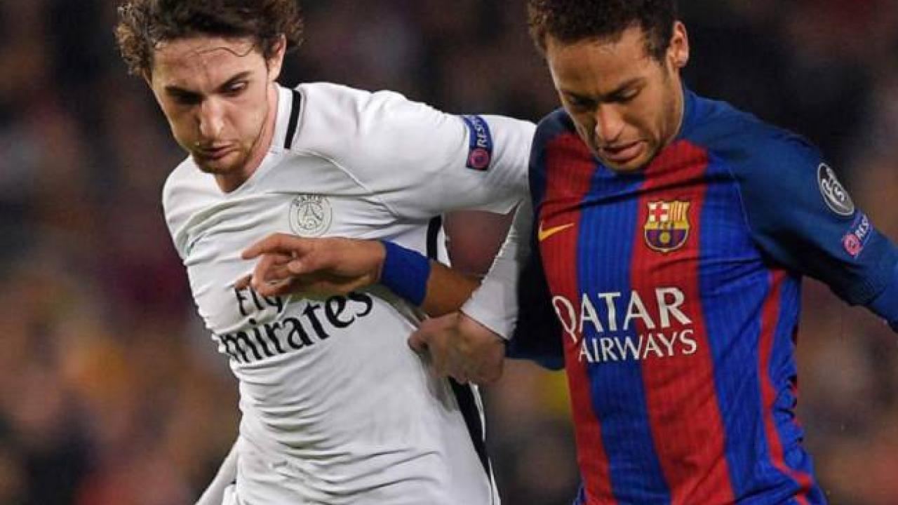 Adrien Rabiot and Neymar