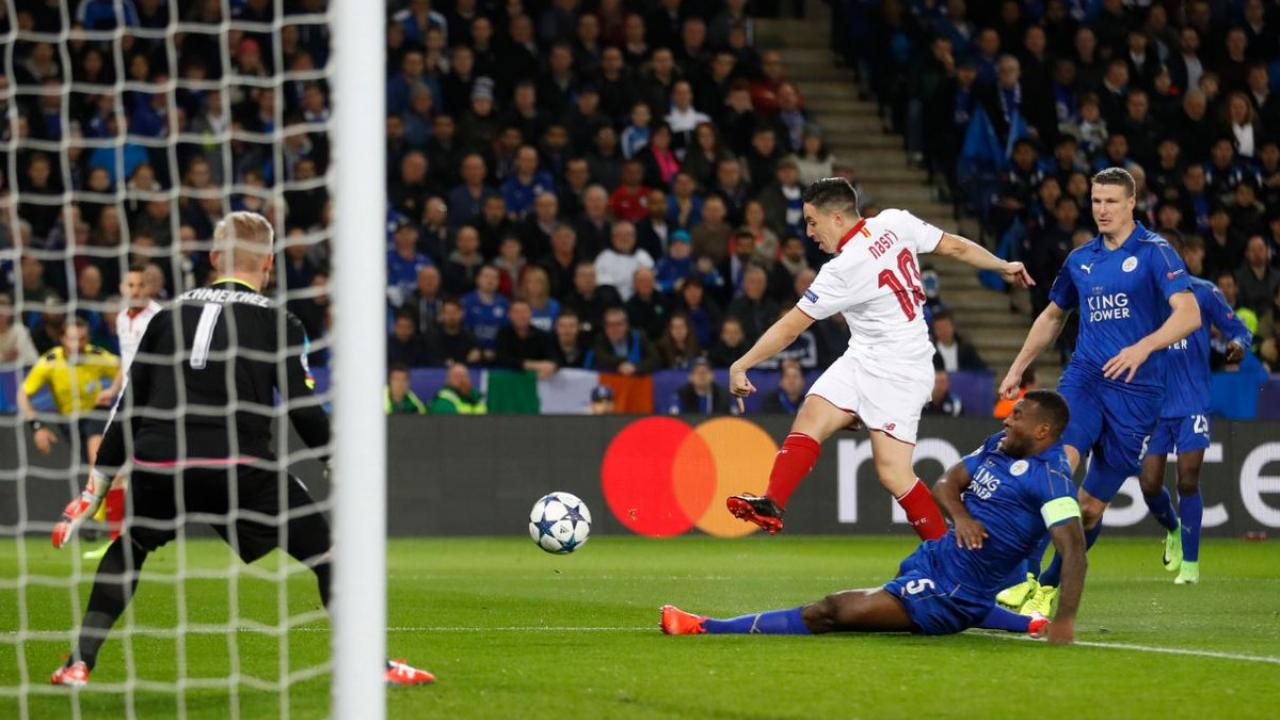 Leicester City defeat Sevilla 2-0.