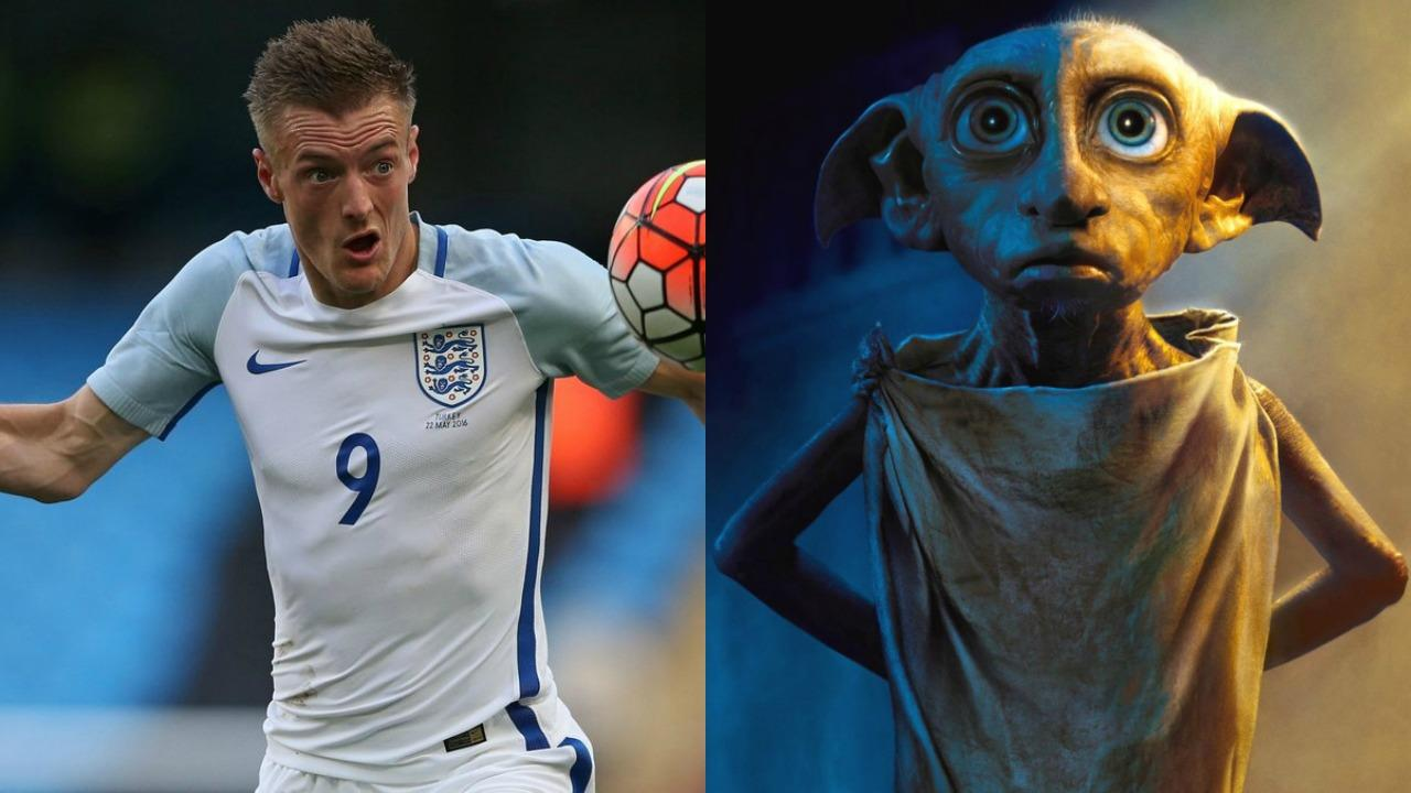 Jamie Vardy and Dobby
