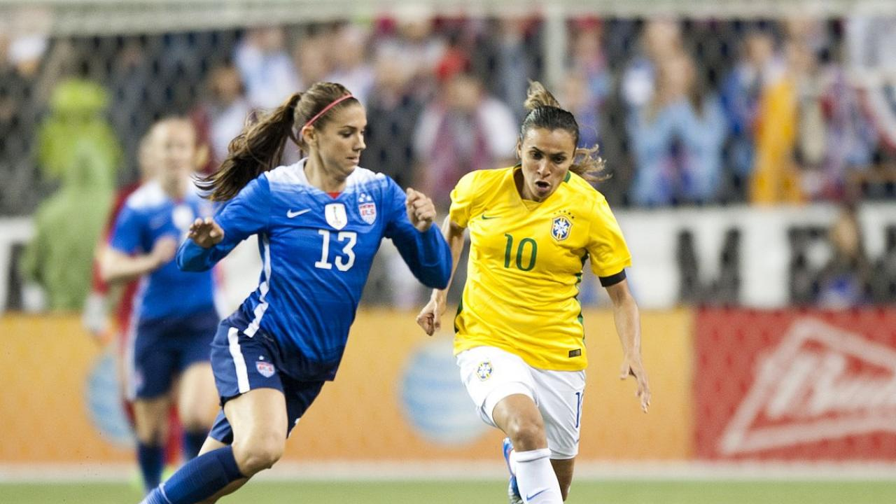 Marta and Alex Morgan