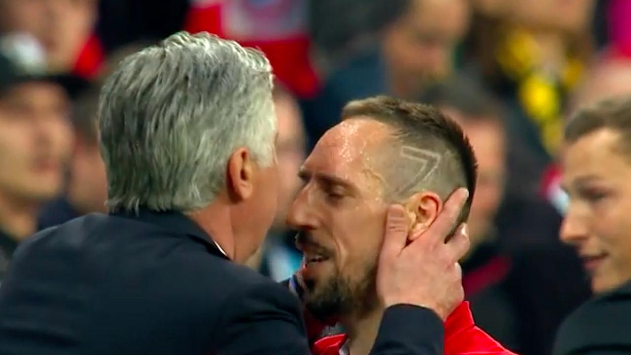 Carlo Ancelotti and Franck Ribery