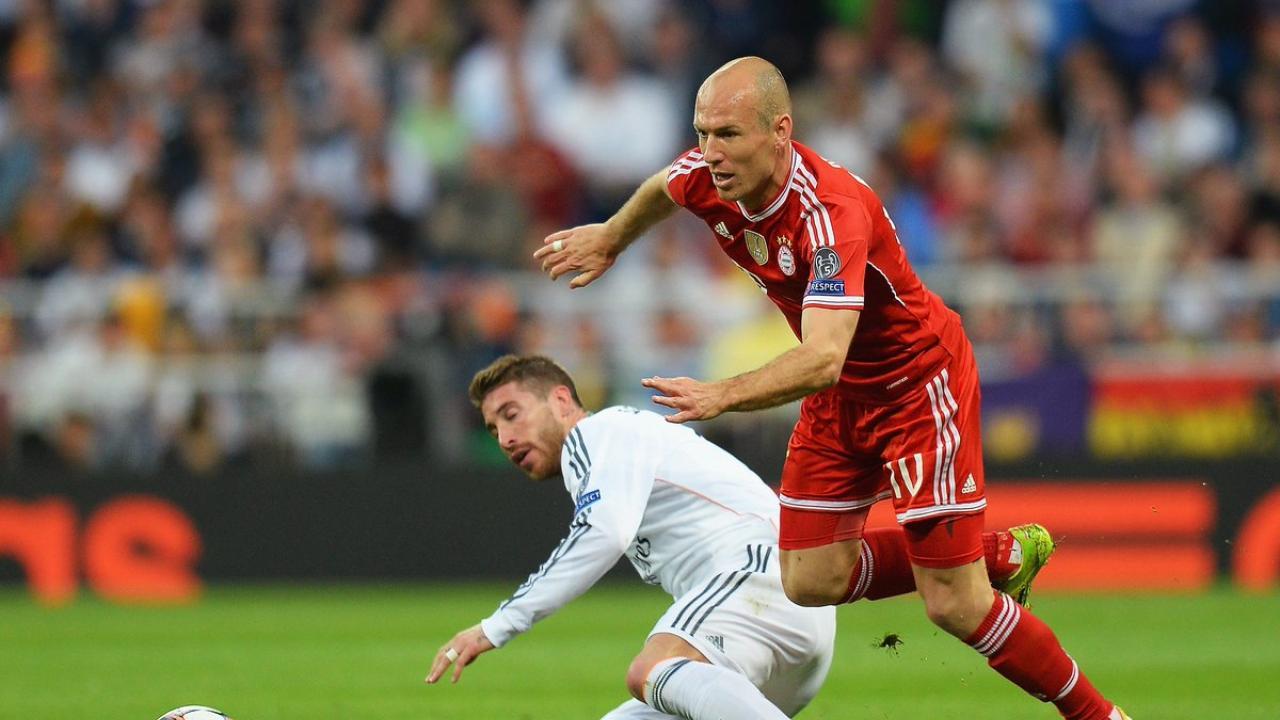 Arjen Robben and Sergio Ramos