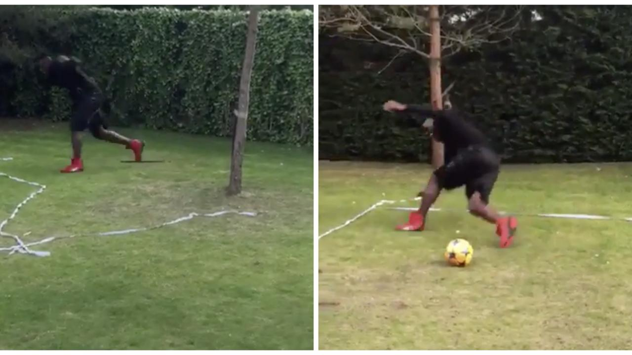 Mario Balotelli Dizzy Bat With A Soccer Ball