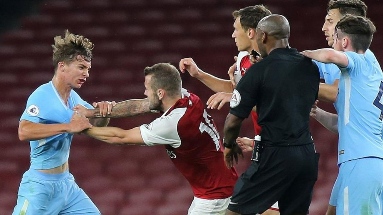 Watch Jack Wilshere Try To Fight All The Manchester City U 23s