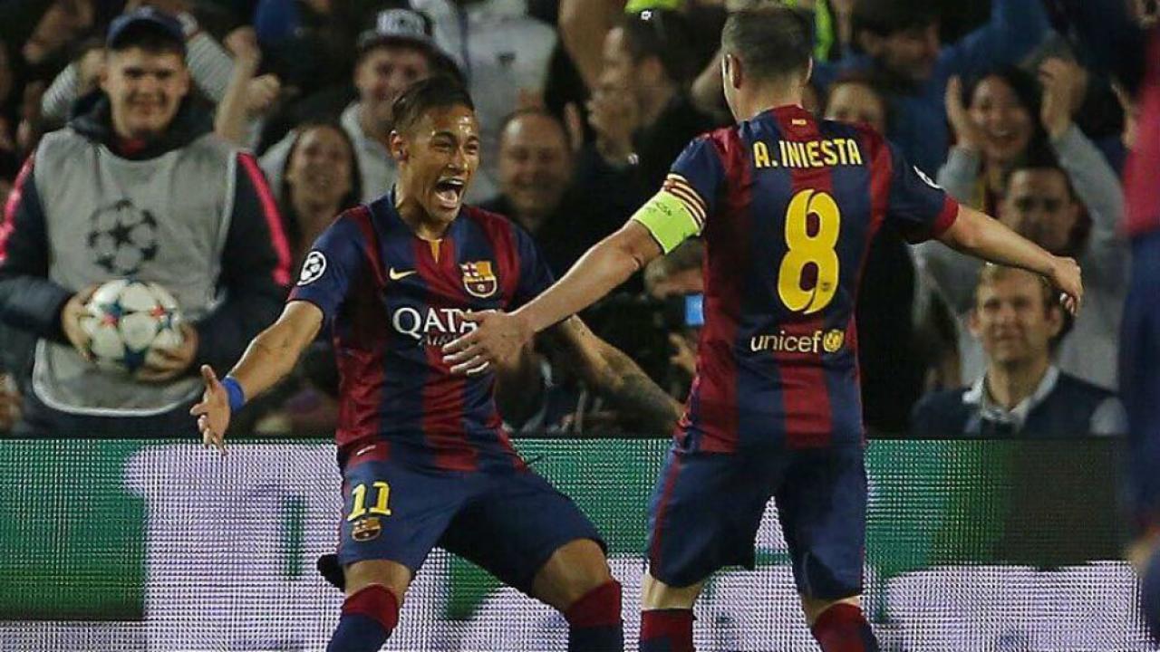 Neymar and Iniesta