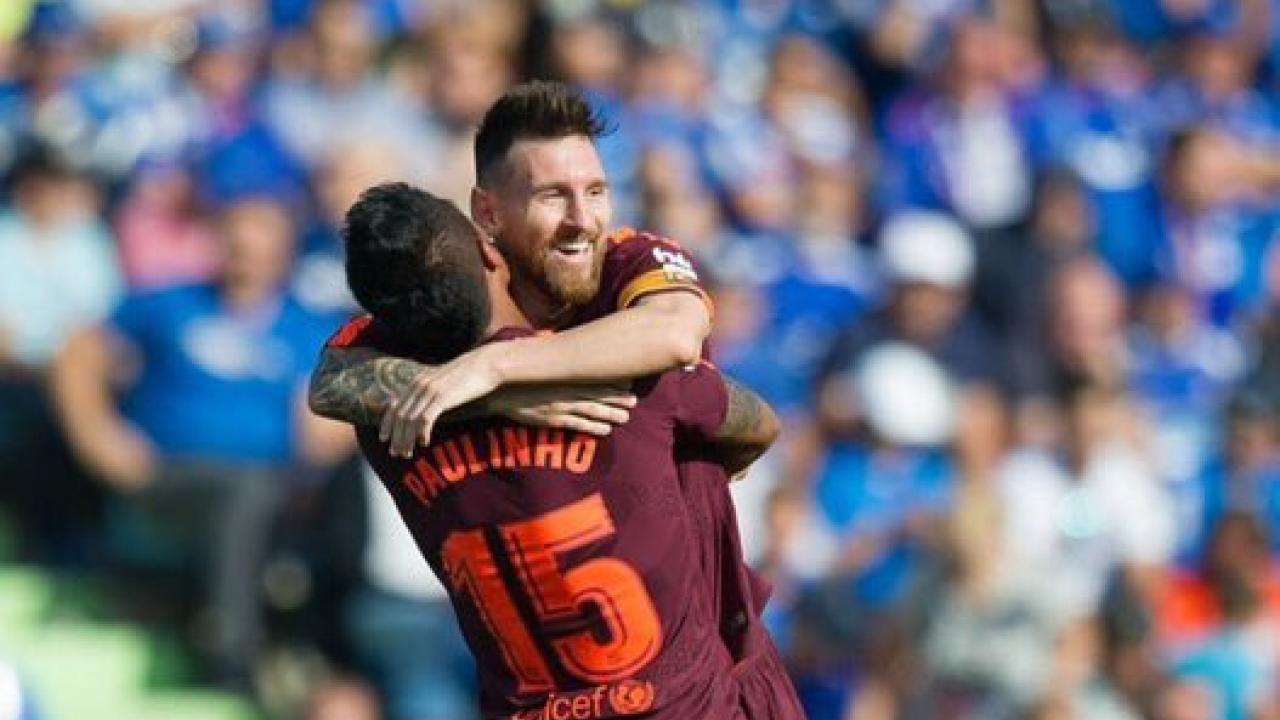 Barcelona Defeat Getafe 2 1 With Paulinho The Unlikely Hero