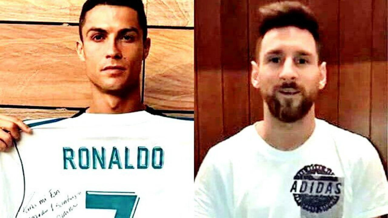 Cristiano Ronaldo and Lionel Messi pay homage to Mexican earthquake victims.