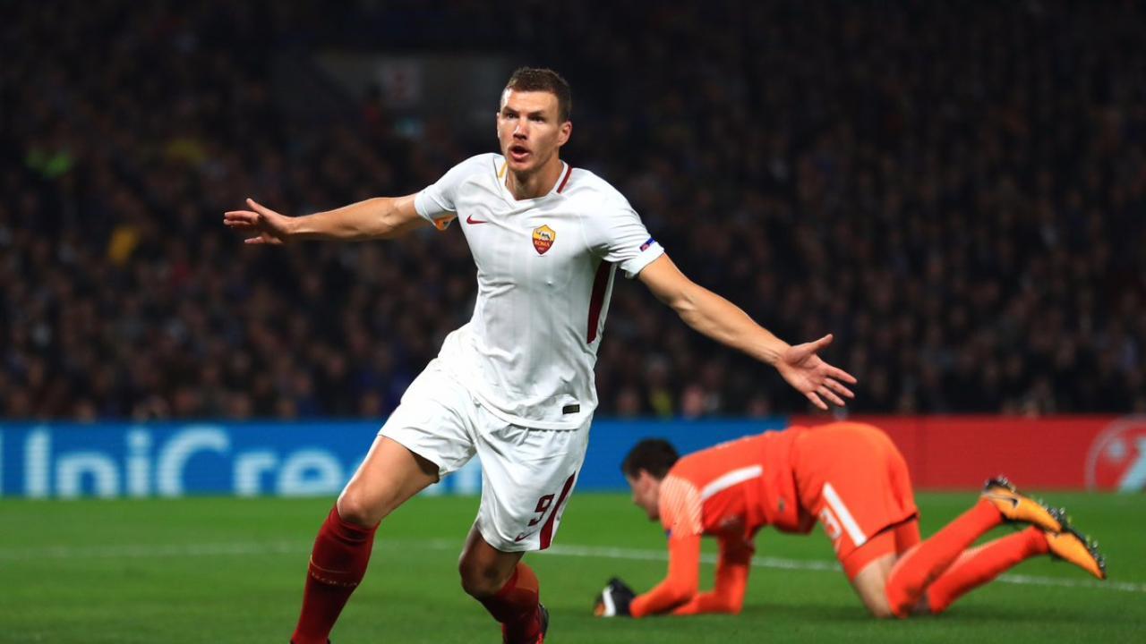 Amazing Edin Dzeko Goal Highlights Wild Chelsea-Roma Draw