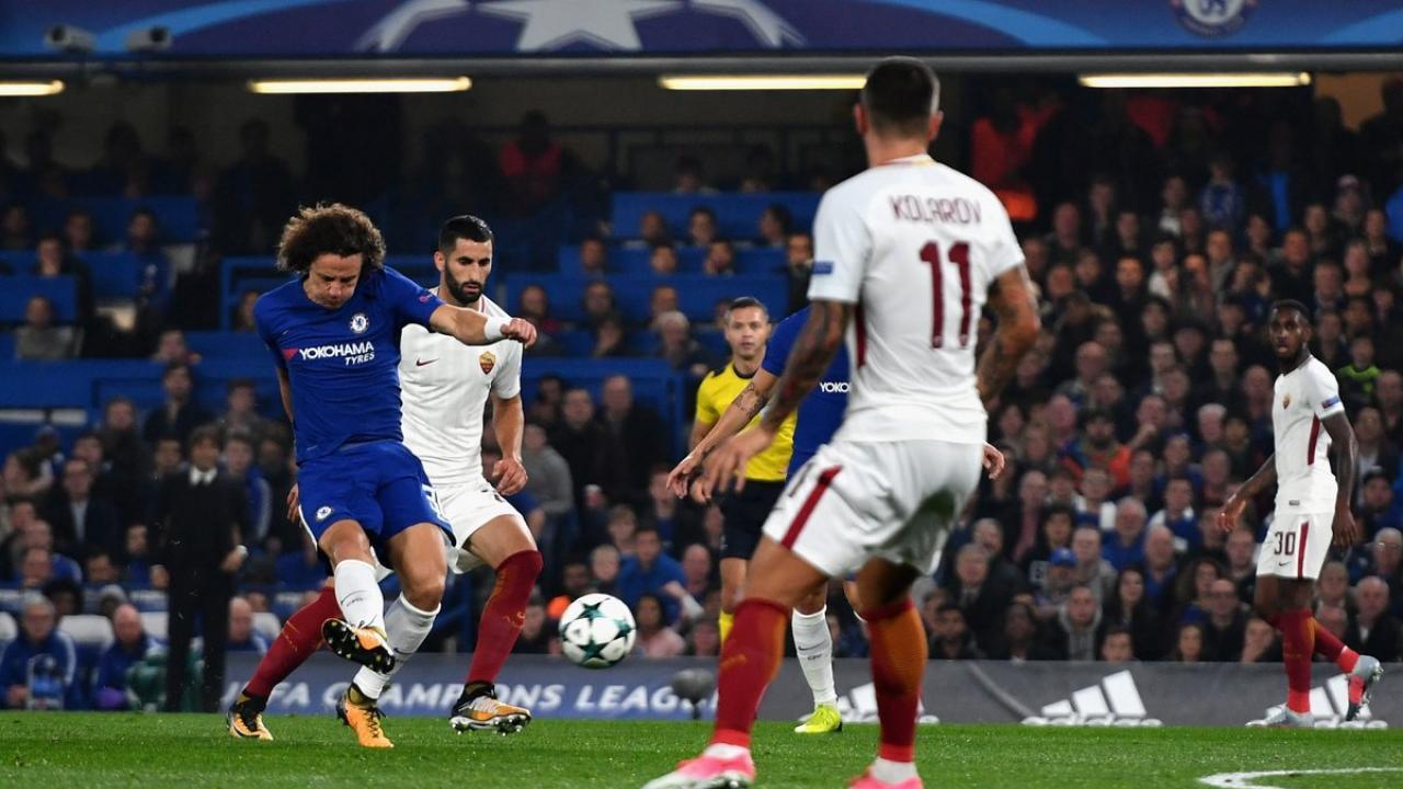 David Luiz Goal VS AS Roma