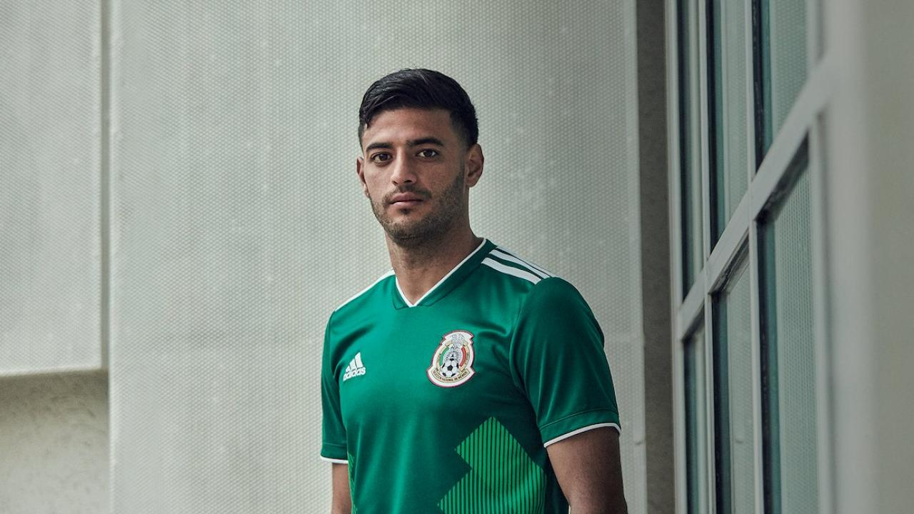 8d6e8bb20a1 Mexico World Cup kit worn by Carlos Vela