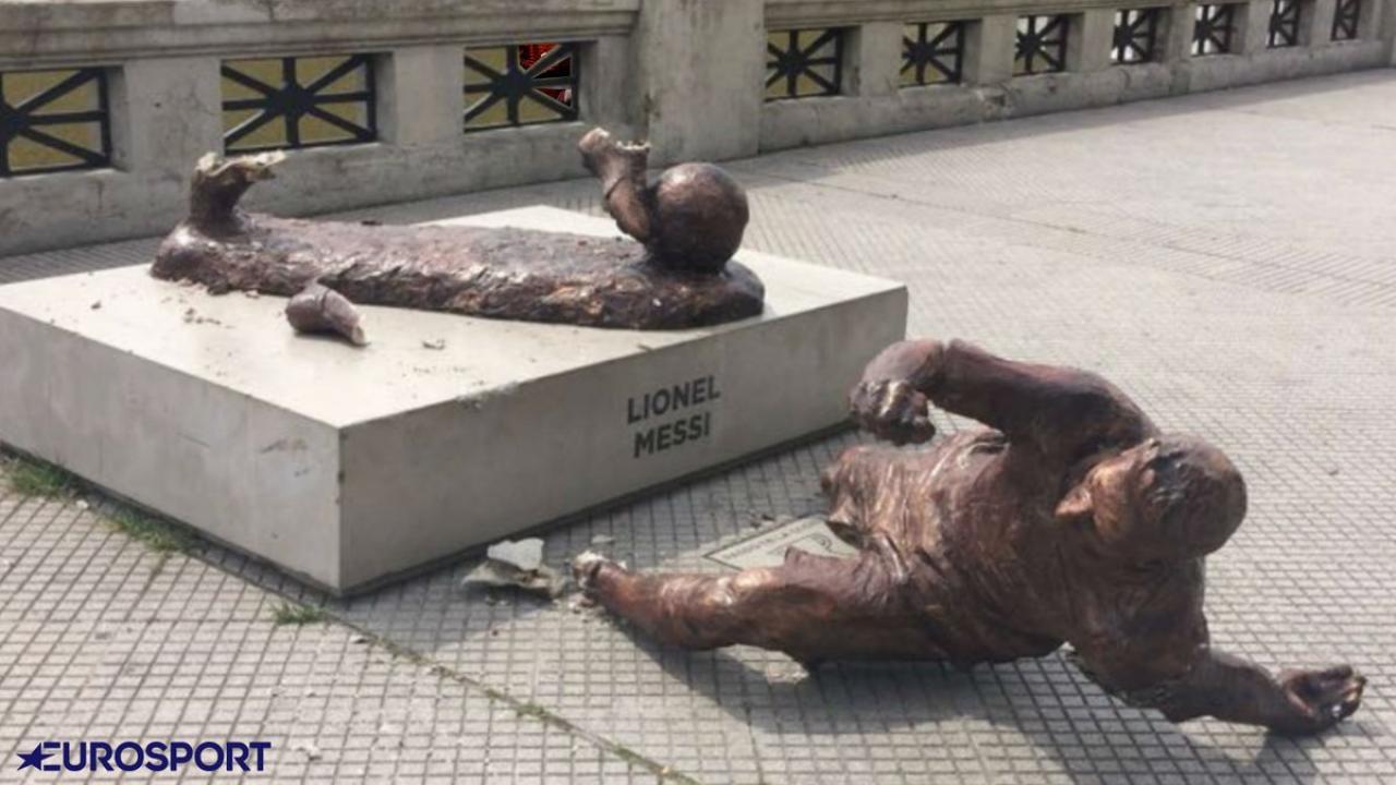Messi Statue Vandalized