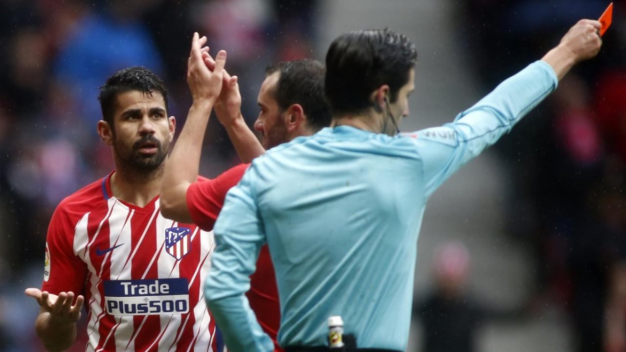Diego Costa red card