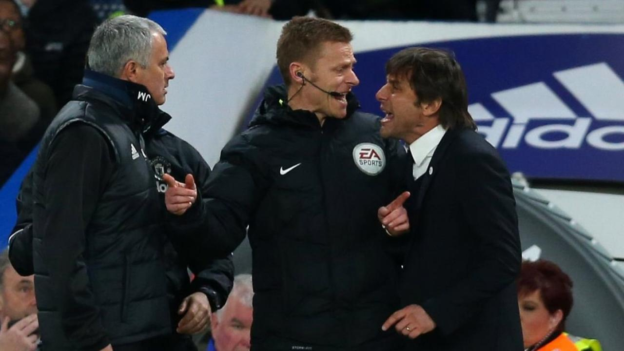 Jose Mourinho Antonio Conte fight