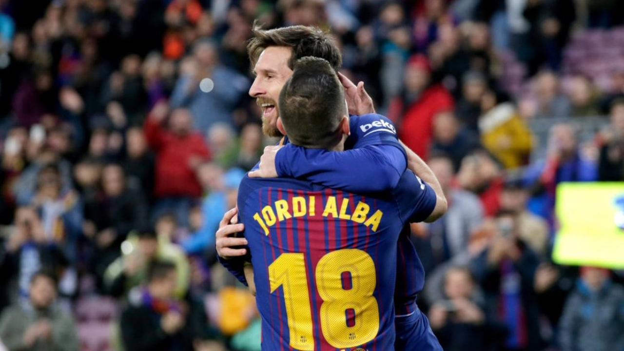 Messi and Jordi Alba