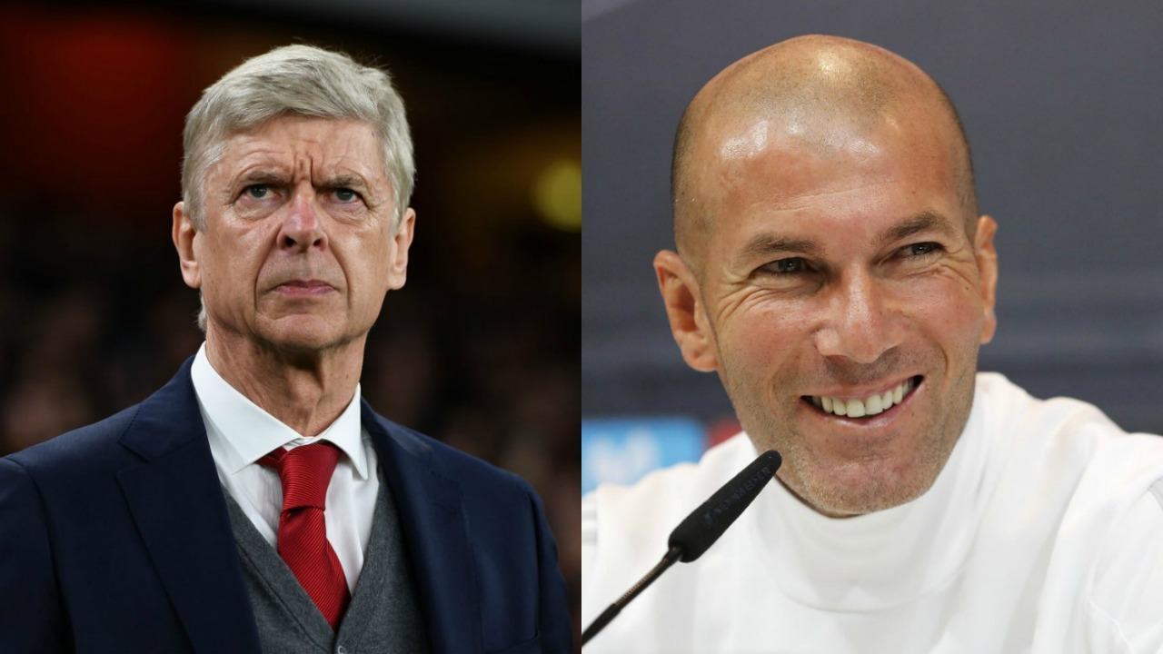 Arsene Wenger and Zinedine Zidane