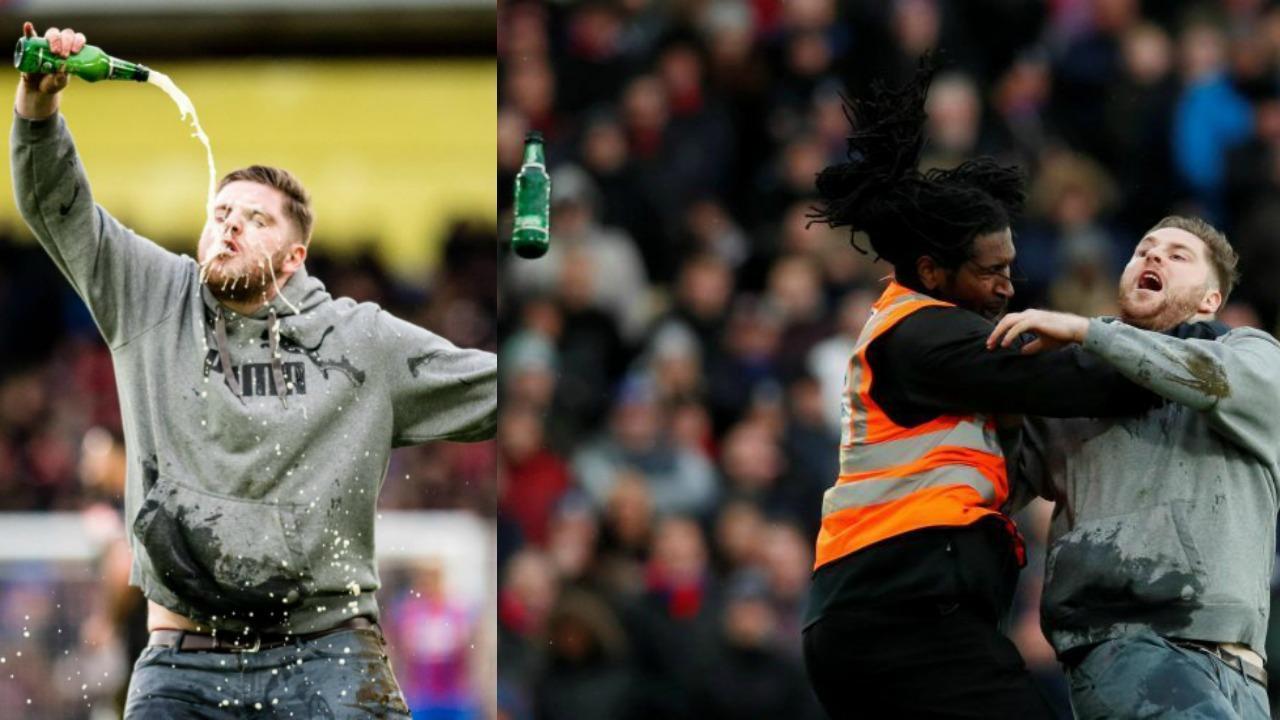 Crystal Palace pitch invader