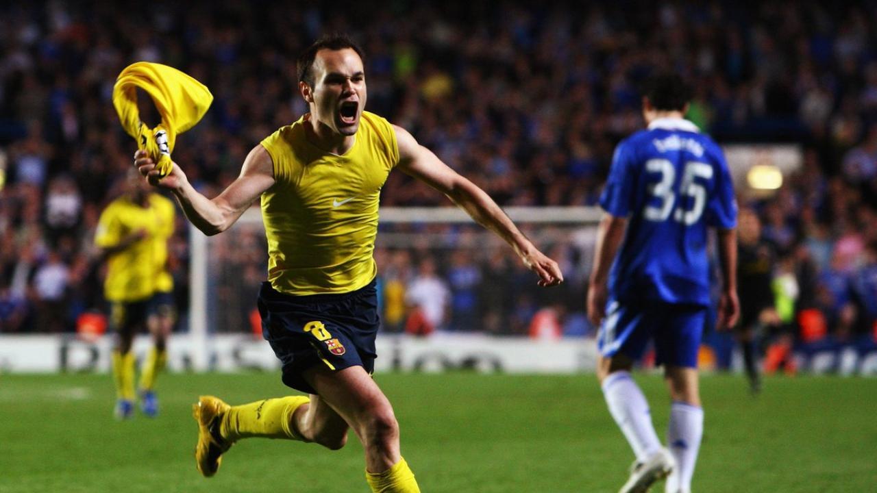 Andres Iniesta goal against Chelsea