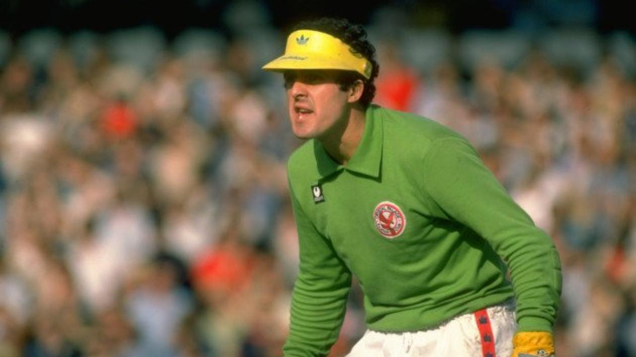 John Burridge goalkeeper warm up