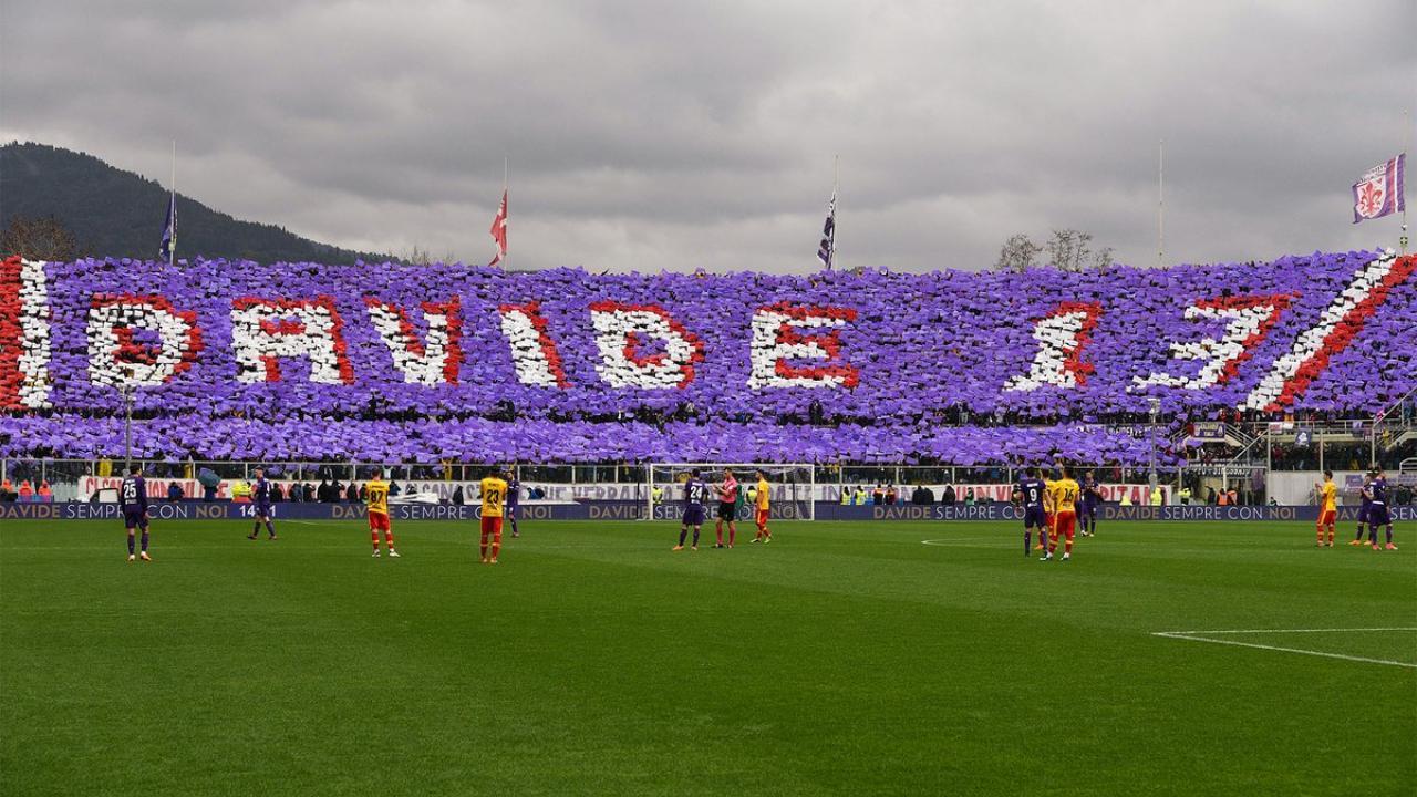 Davide Astori tribute during Fiorentina vs Benevento