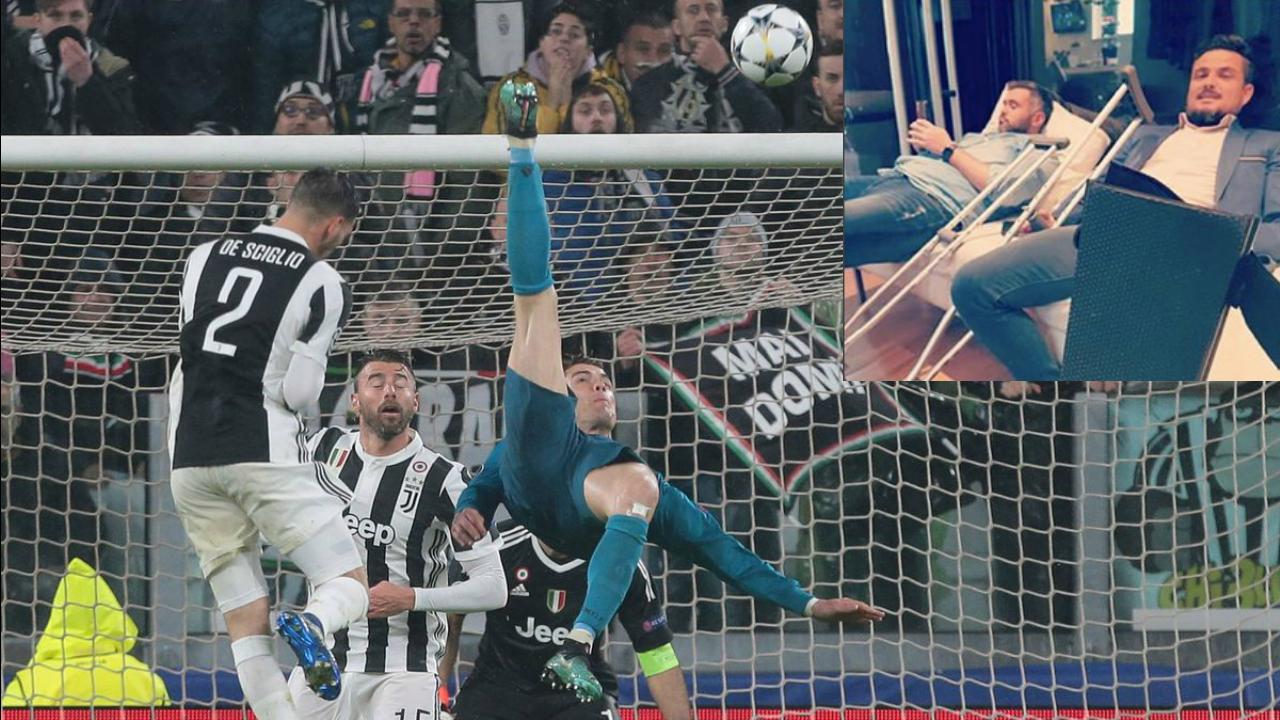 Cristiano Ronaldo Bicycle Kick Fail