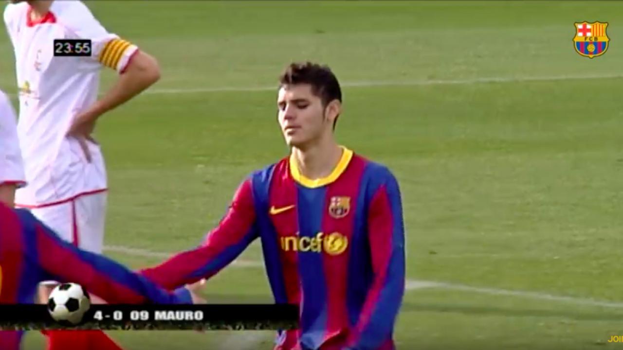 Rare Footage Of Mauro Icardi Barcelona Goals At La Masia