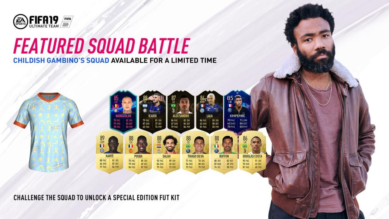 Fifa 19 Squad Battles Rewards the childish gambino fifa 19 squad battle challenge you must
