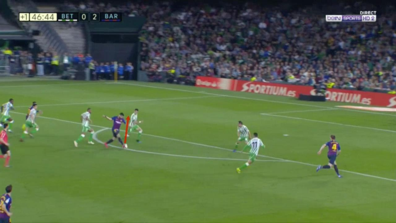Luis Suarez assist vs Real Betis