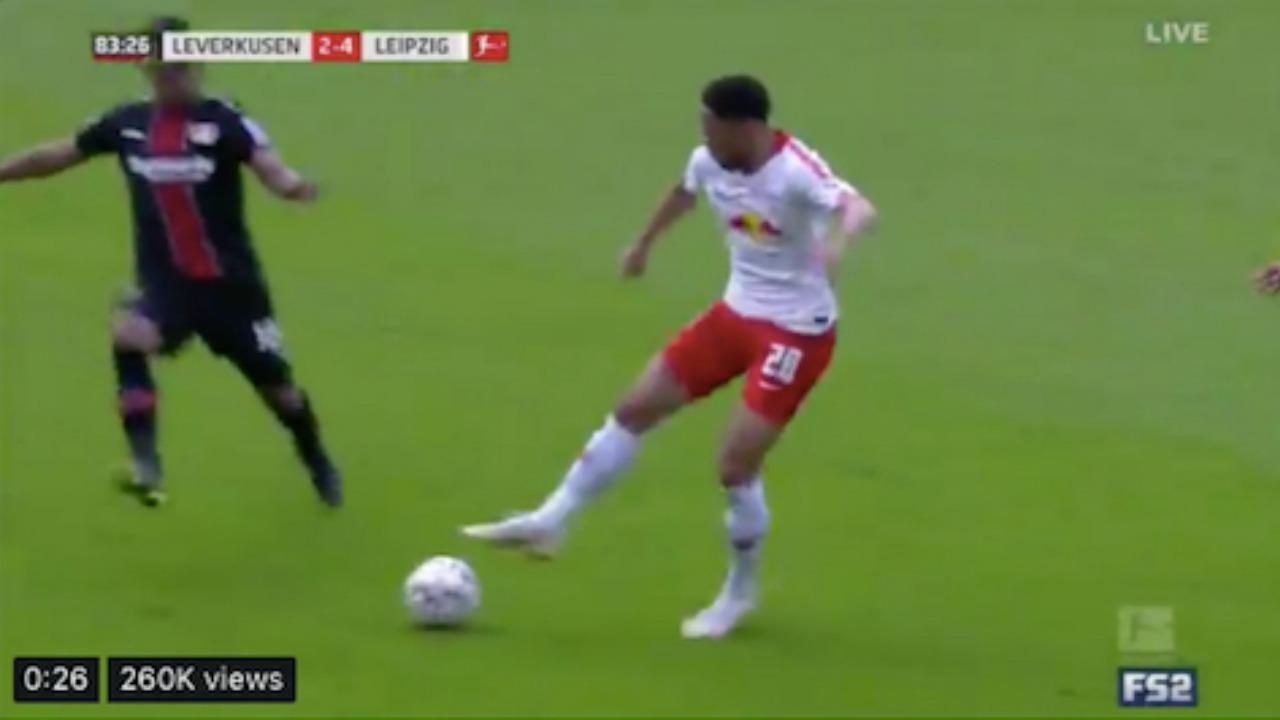 Matheus Cunha goal v Bayer Leverkusen