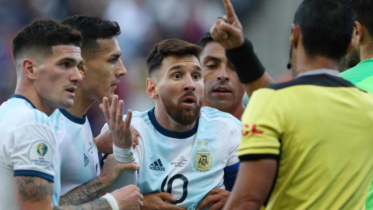 Lionel Messi Red Card