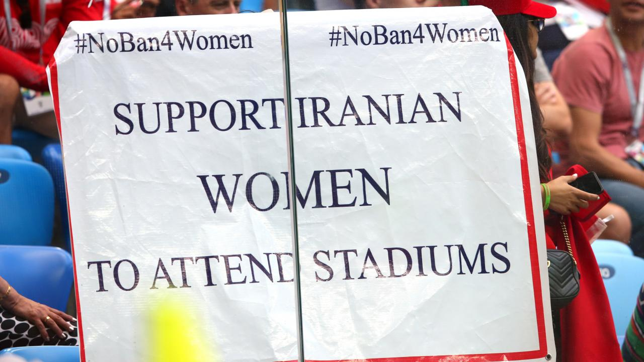 Iranian Woman Soccer Fan