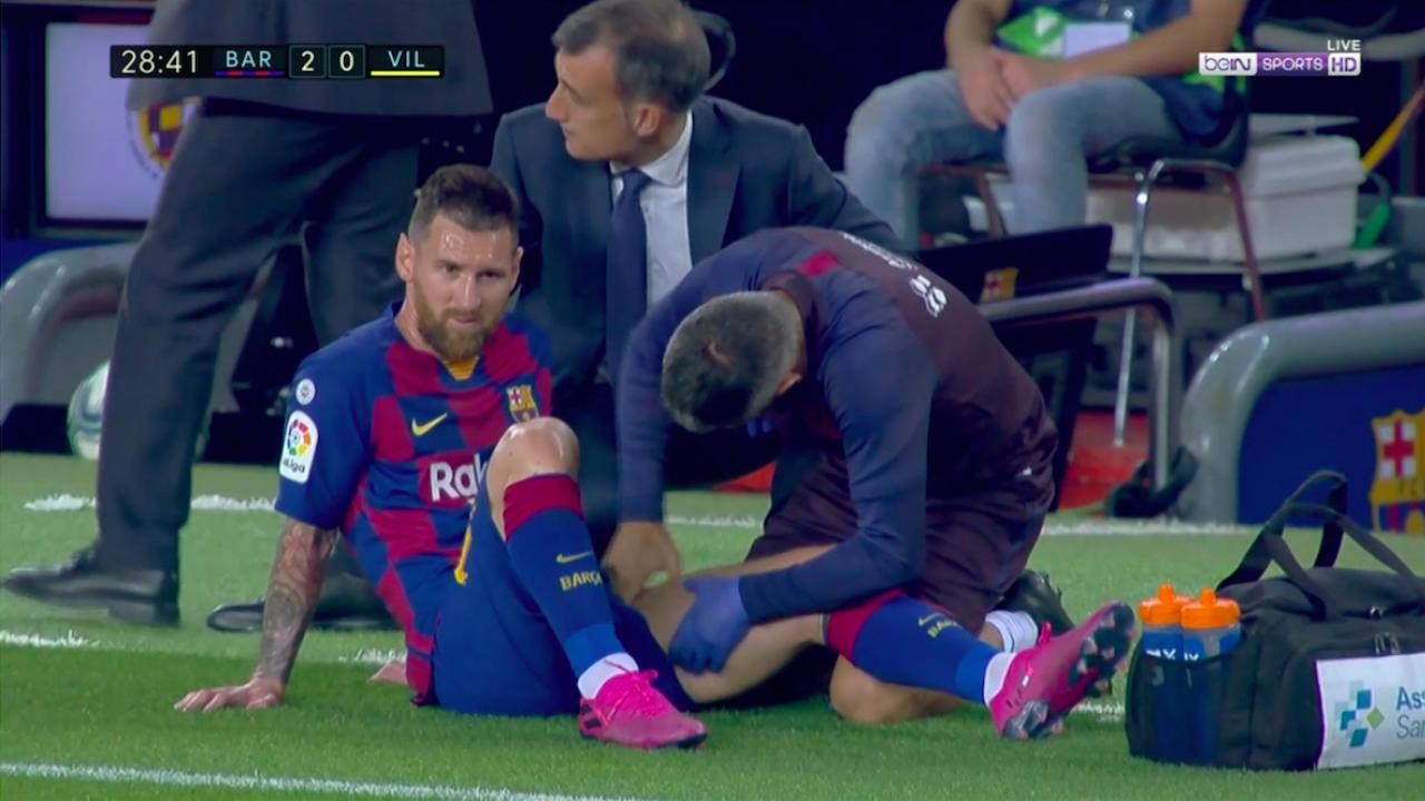 Latest Lionel Messi injury