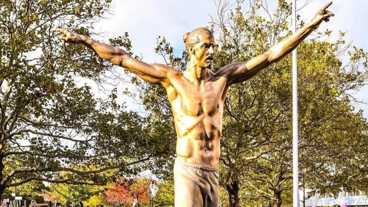 Zlatan Statue