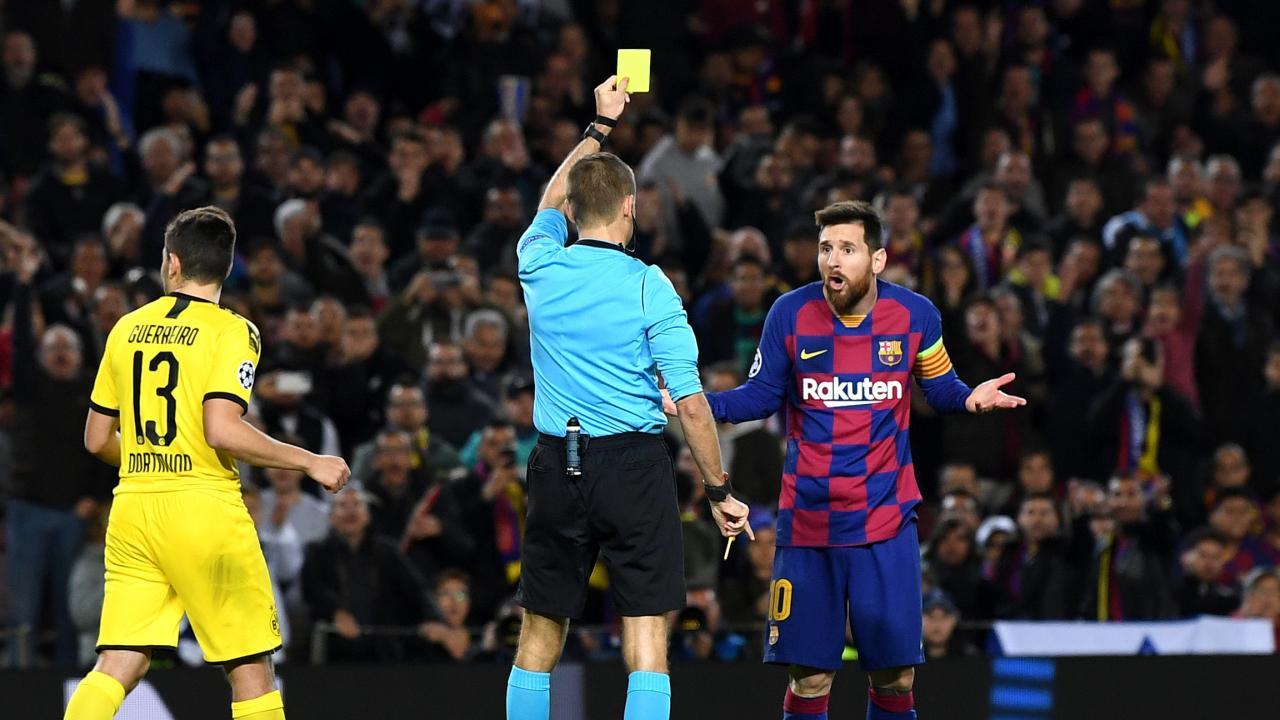 Lionel Messi Dive vs Dortmund