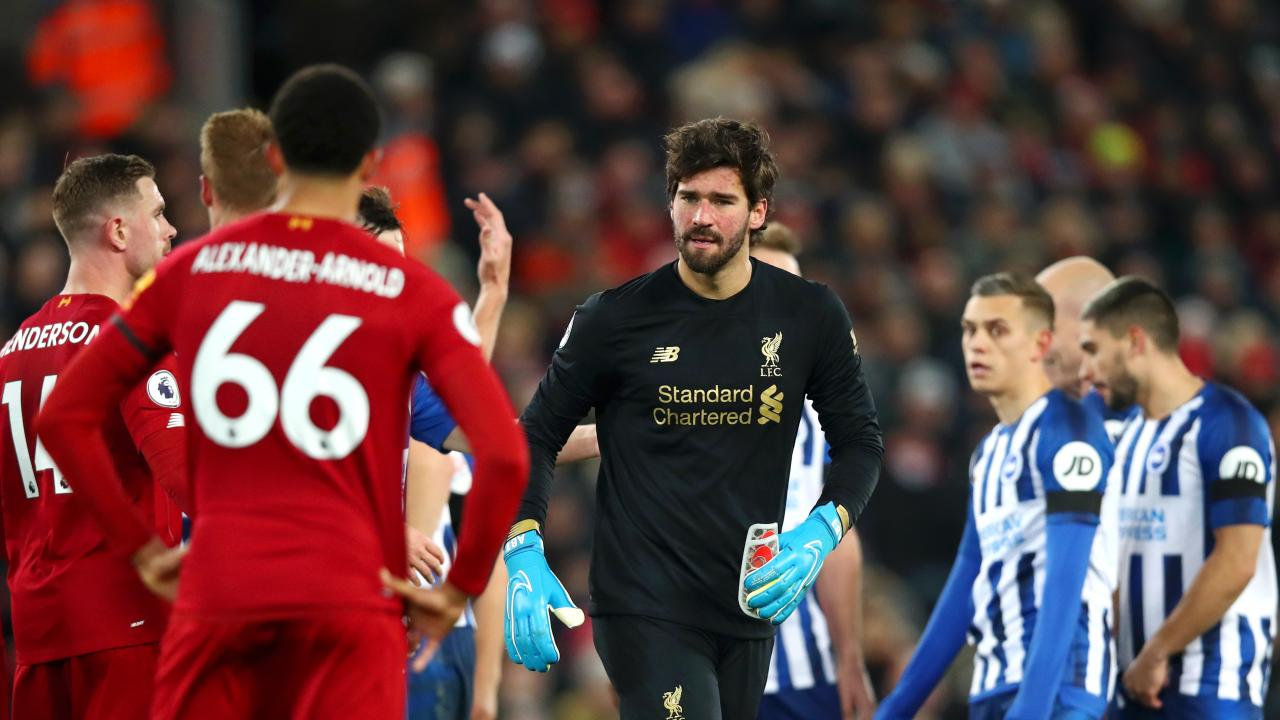 Alisson Red Card vs. Brighton
