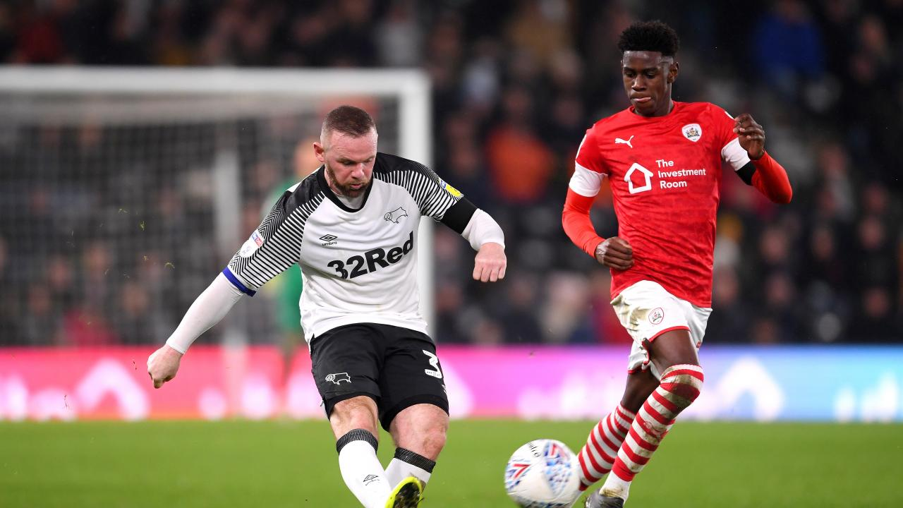 Wayne Rooney Assist vs. Barnsley For Derby County