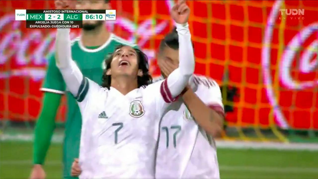 Diego Lainez goal vs Algeria