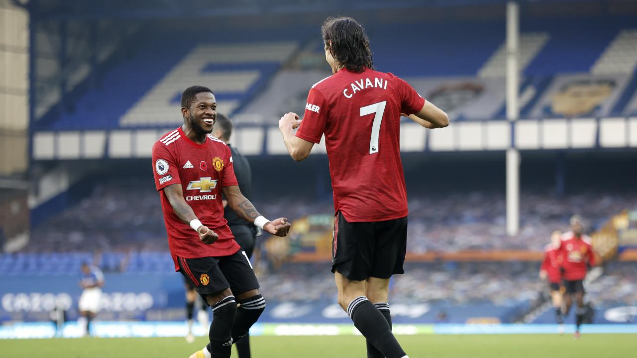 Everton vs Man Utd Highlights: Cavani Gets First Goal In ...