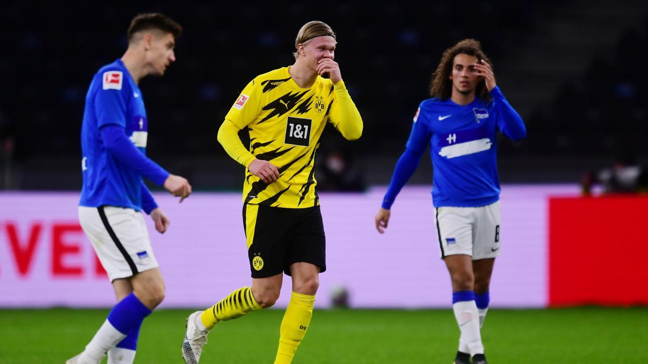 Haaland Goals vs Hertha