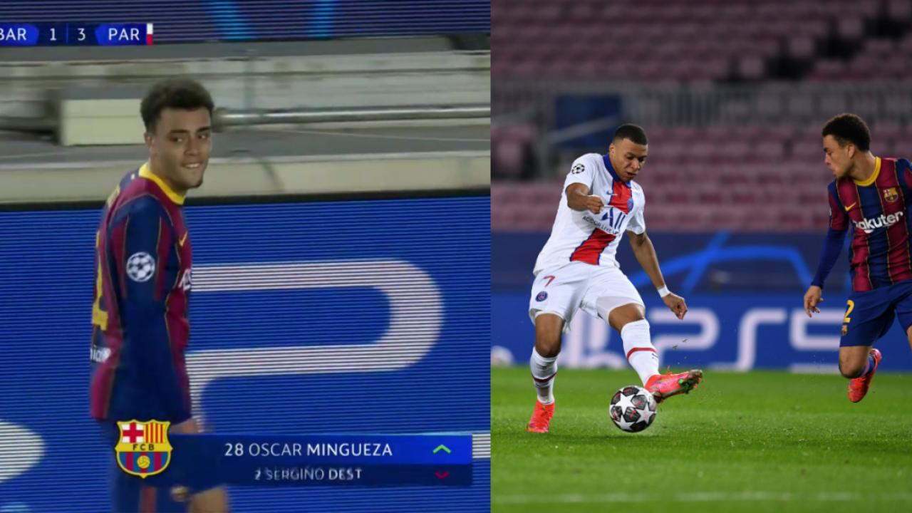 Sergiño Dest vs Mbappé