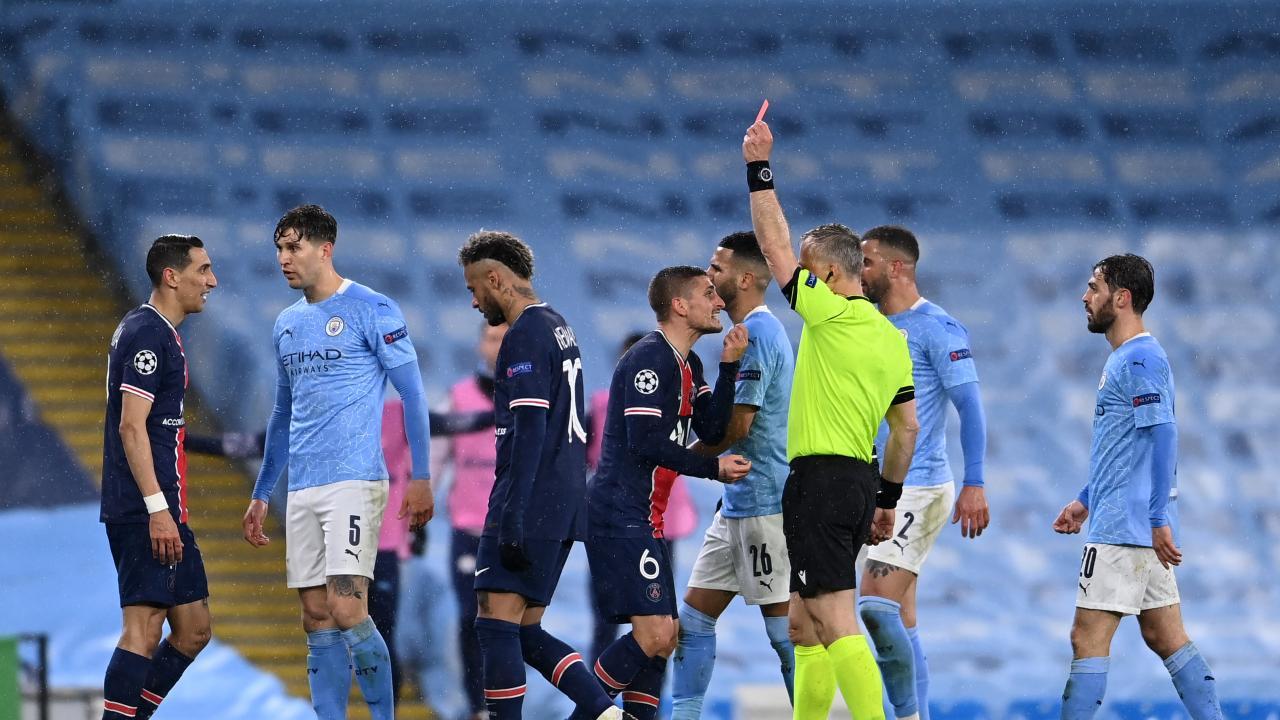 Ángel Di María red card
