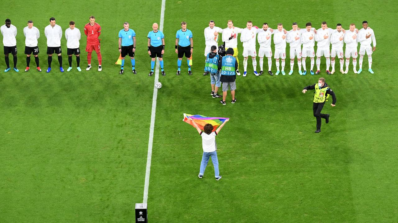Germany Hungary Rainbow Flag Colors Pitch Invader