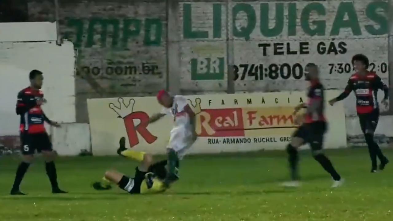 Footballer Attacks Referee