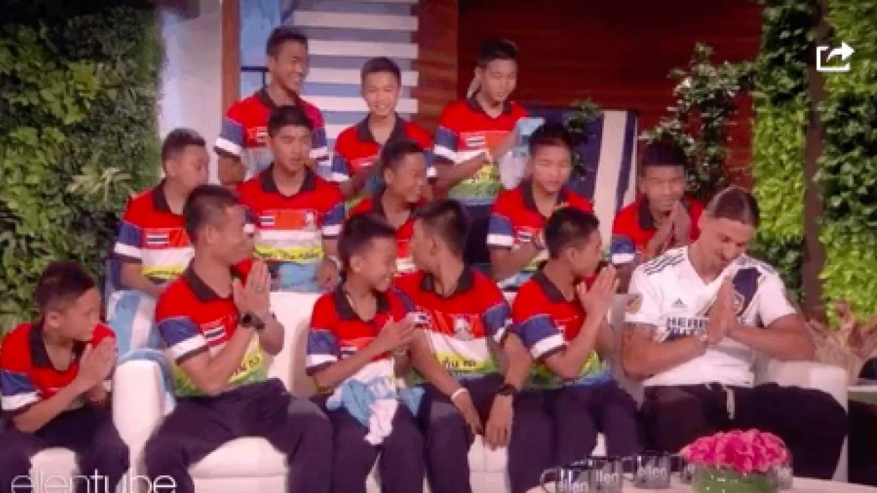 Thai Soccer Team on Ellen